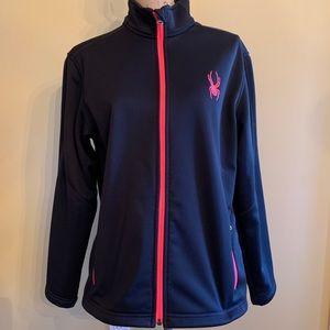 Spyder jacket black sz XL EUC Zip up hoodie